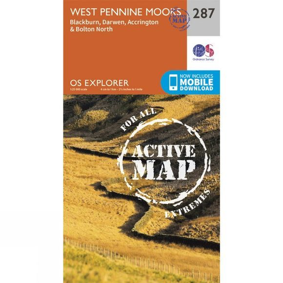Active Explorer Map 287 West Pennine Moors