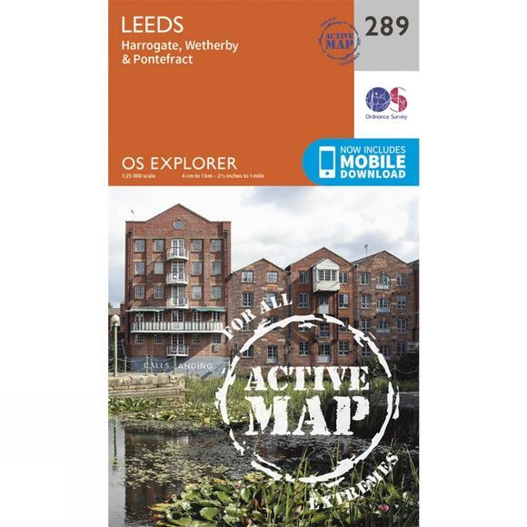 Ordnance Survey Active Explorer Map 289 Leeds V15