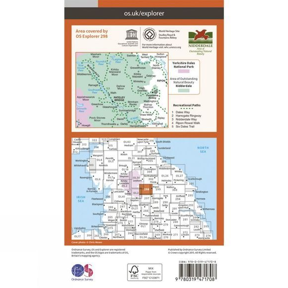 Active Explorer Map 298 Nidderdale