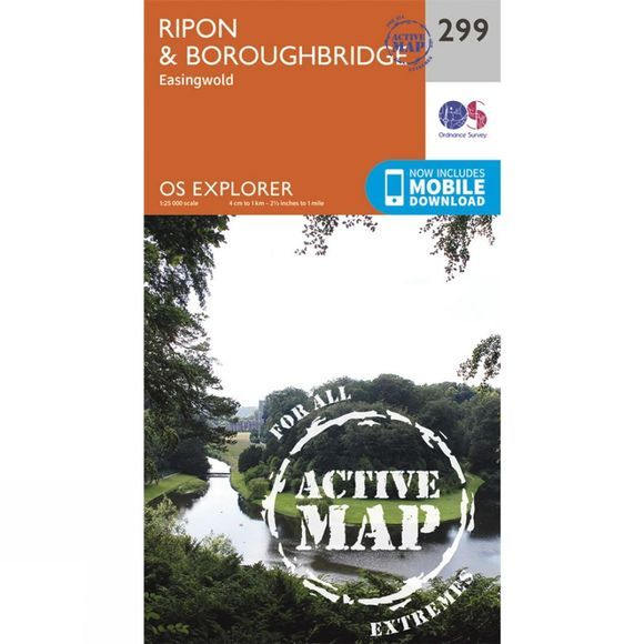 Ordnance Survey Active Explorer Map 299 Ripon and Boroughbridge V15