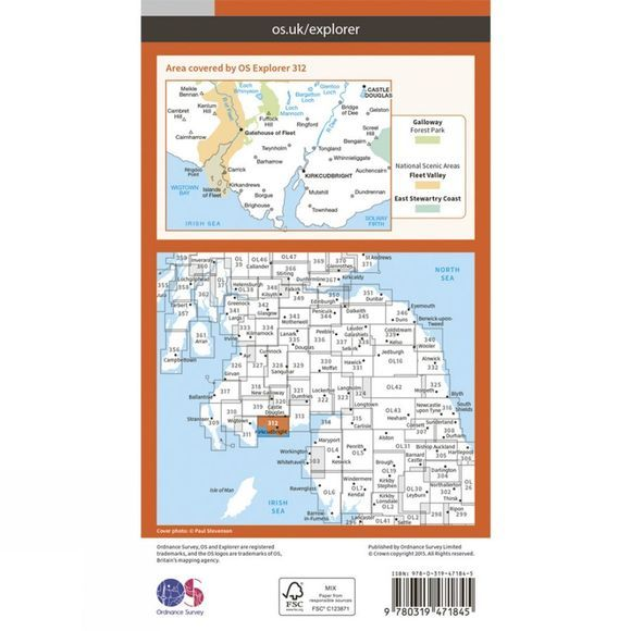 Active Explorer Map 312 Kirkcudbright and Castle Douglas