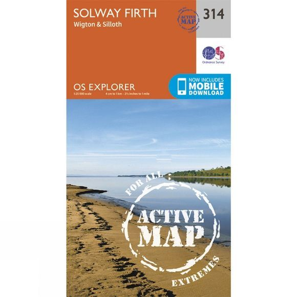 Ordnance Survey Active Explorer Map 314 Solway Firth V15