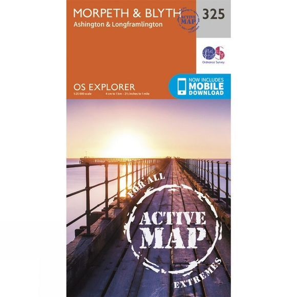 Active Explorer Map 325 Morpeth and Blyth