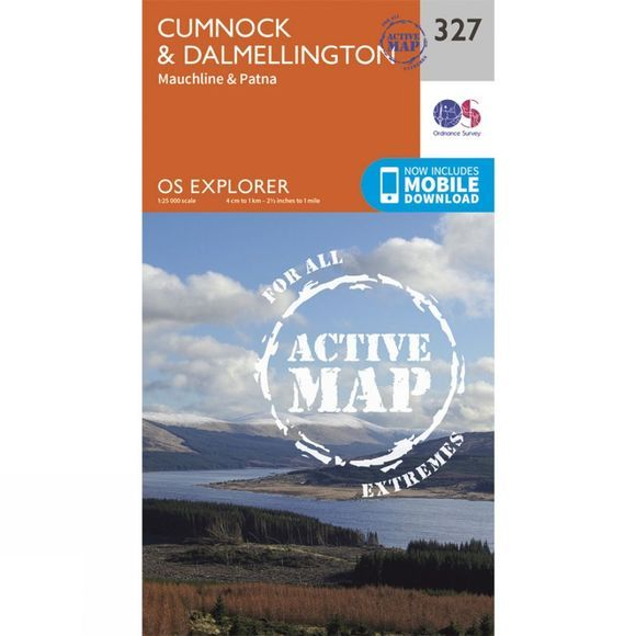 Ordnance Survey Active Explorer Map 327 Cumnock and Dalmellington V15