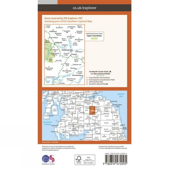 Active Explorer Map 337 Peebles and Innerleithen