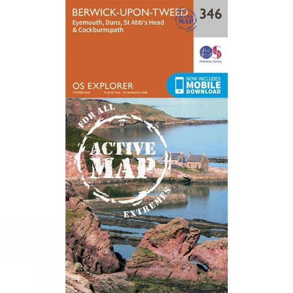 Active Explorer Map 346 Berwick-upon-Tweed