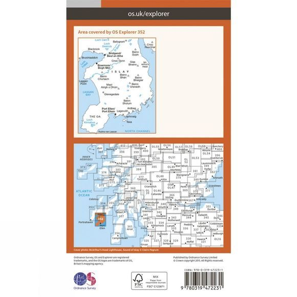 Active Explorer Map 352 Islay South