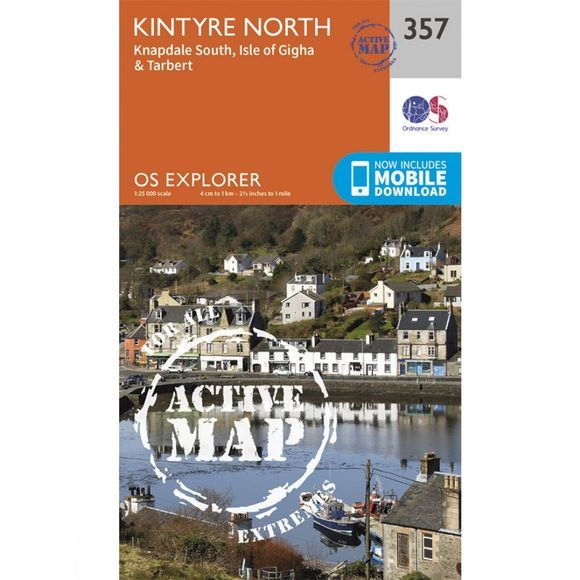 Ordnance Survey Active Explorer Map 357 Kintyre North V15