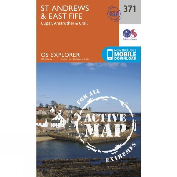 Active Explorer Map 371 St Andrews and East Fife