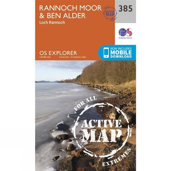 Ordnance Survey Active Explorer Map 385 Rannoch Moor and Ben Alder V15