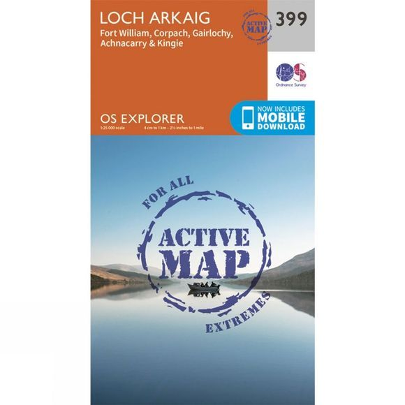 Active Explorer Map 399 Loch Arkaig