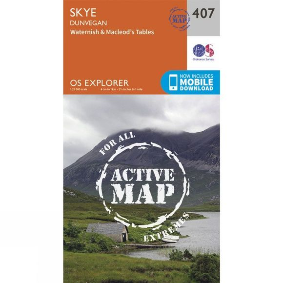 Ordnance Survey Active Explorer Map 407 Skye - Dunvegan V15