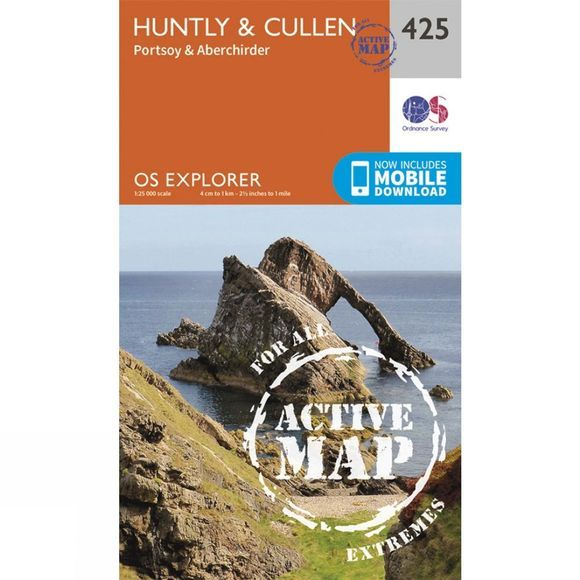 Ordnance Survey Active Explorer Map 425 Huntly and Cullen V15