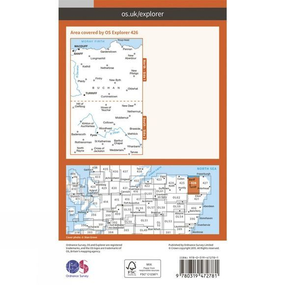 Ordnance Survey Active Explorer Map 426 Banff, Macduff and Turriff V15