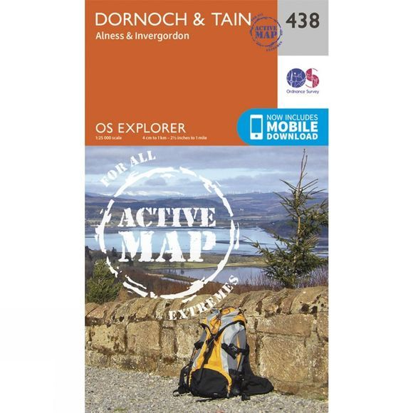 Active Explorer Map 438 Dornoch and Tain
