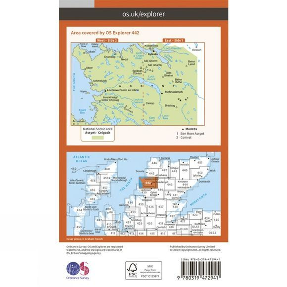 Active Explorer Map 442 Assynt and Lochinver