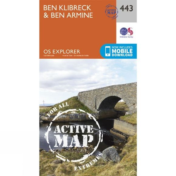 Ordnance Survey Active Explorer Map 443 Ben Klibreck and Ben Armine V15