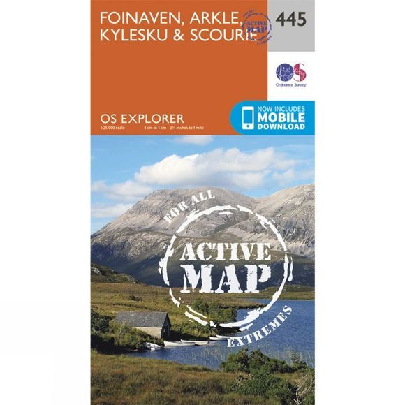 Active Explorer Map 445 Foinaven, Arkle, Kylesku and Scourie