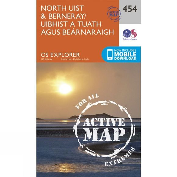 Active Explorer Map 454 North Uist and Berneray