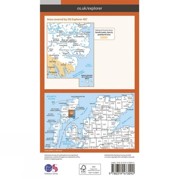 Active Explorer Map 457 South East Lewis