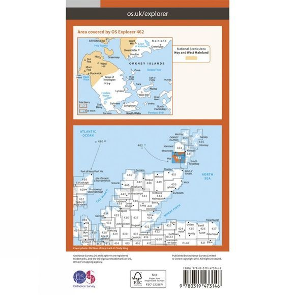 Active Explorer Map 462 Orkney - Hoy, South Walls and Flotta