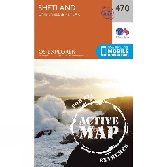 Active Explorer Map 470 Shetland - Unst, Yell and Fetlar