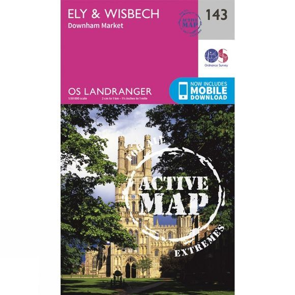 Active Landranger Map 143 Ely and Wisbech