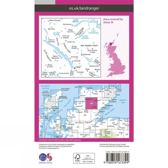 Active Landranger Map 16 Lairg and Loch Shin