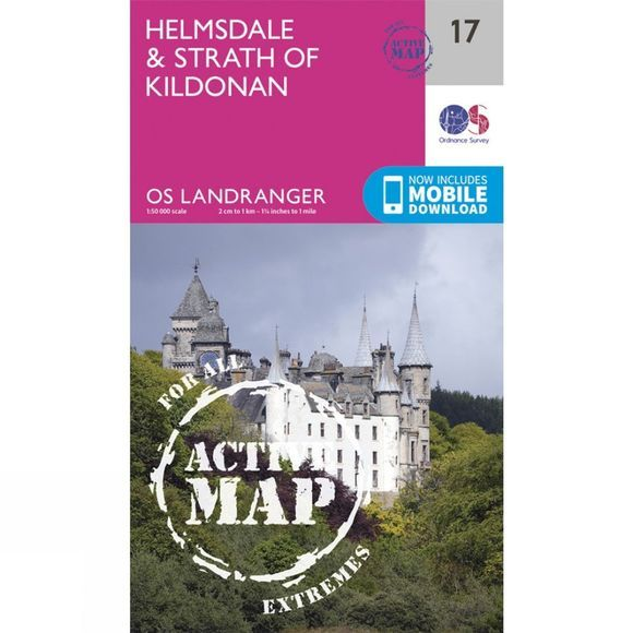 Active Landranger Map 17 Helmsdale and Strath of Kildonan