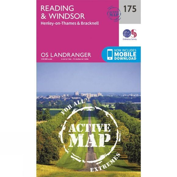 Ordnance Survey Active Landranger Map 175 Reading and Windsor V16