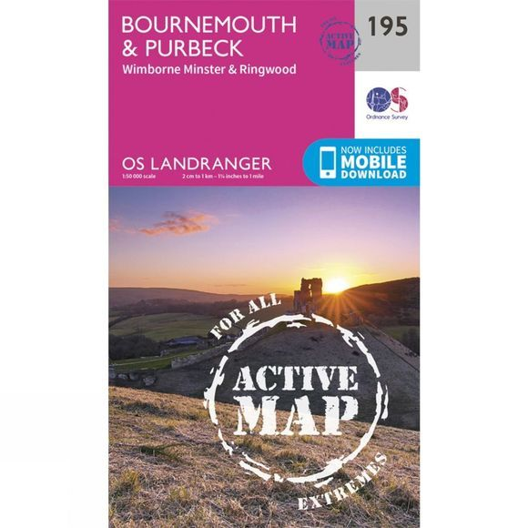 Active Landranger Map 195 Bournemouth and Purbeck