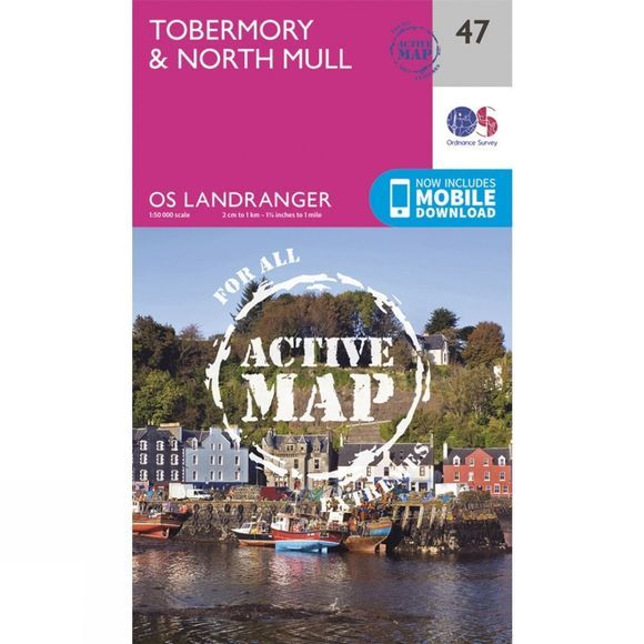 Active Landranger Map 47 Tobermory and North Mull