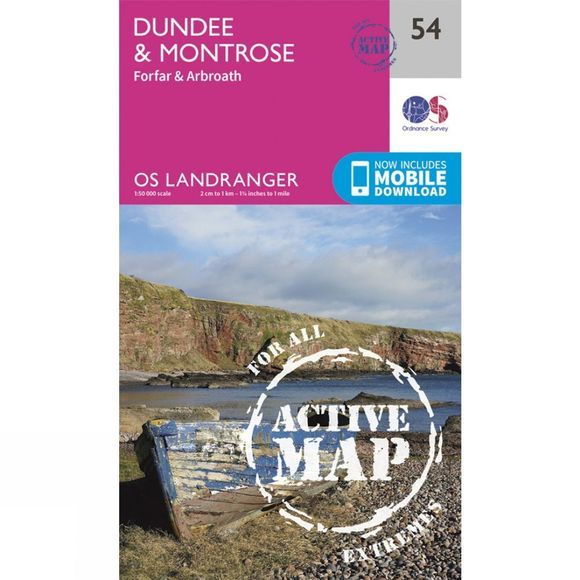 Active Landranger Map 54 Dundee and Montrose