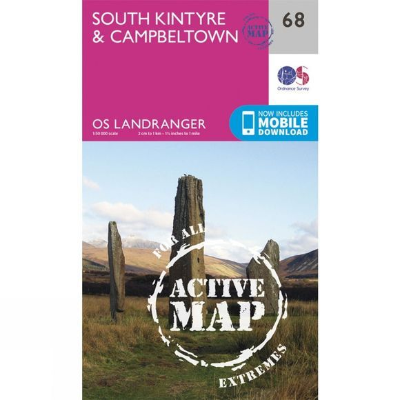 Active Landranger Map 68 South Kintyre and Campbeltown