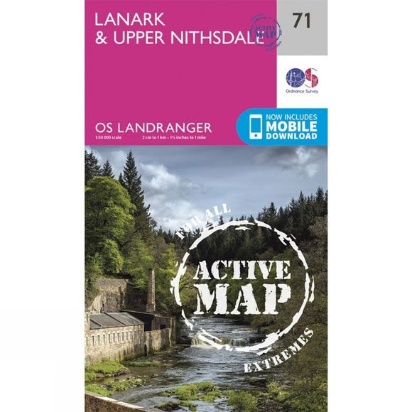 Ordnance Survey Active Landranger Map 71 Lanark and Upper Nithsdale V16