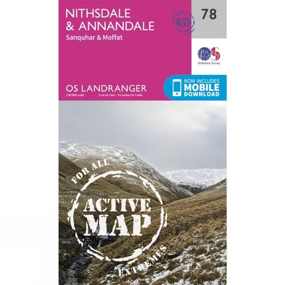 Active Landranger Map 78 Nithsdale and Annandale