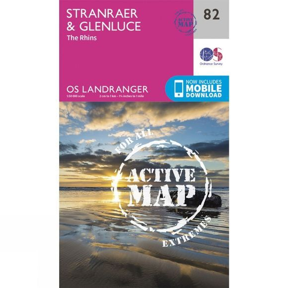 Active Landranger Map 82 Stranraer and Glenluce