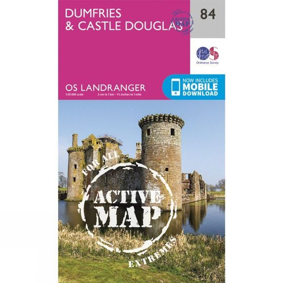 Active Landranger Map 84 Dumfries and Castle Douglas