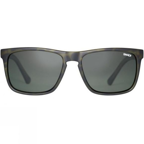 Sinner Oak Polarised Sunglasses Matt Olive Tort/Green
