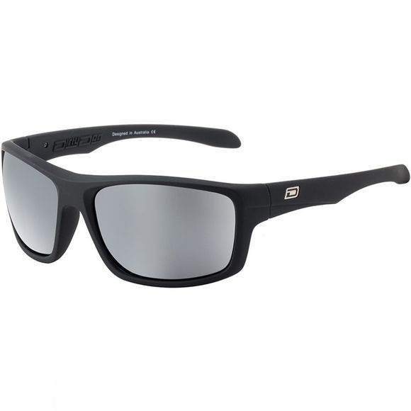 Dirty Dog Axle Sunglasses Satin Black/ Grey Silver Mirror Pol