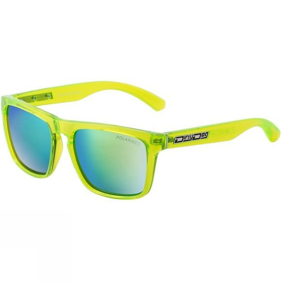 Dirty Dog Monza Sunglasses Crystal Green/ Green Mirror Pol
