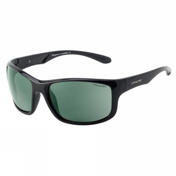 Dirty Dog Spint Sunglasses Black/Green Polarized