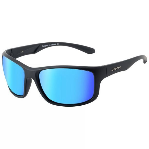 Dirty Dog Splint Sunglasses Satin Black/Grey Ice Blue Mirror Polarised