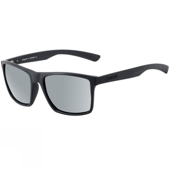Dirty Dog Volcano Sunglasses Satin Black Grey/Silver Mirror Polarized