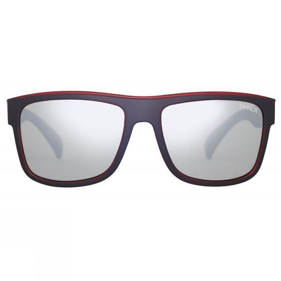 Sinner Skagen Sunglasses Matt Black Red/Smoke Silver Mirror