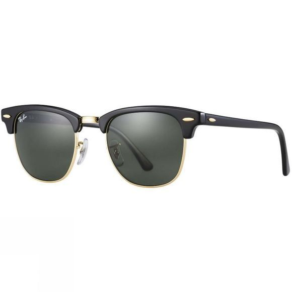 Ray Ban Clubmaster Classic Sunglasses Ebony/ Arista/ Green