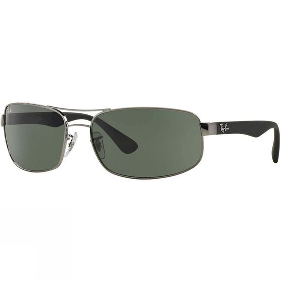 Ray Ban RB3445 Sunglasses Gunmetal/ Green