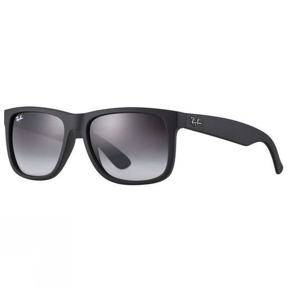 Ray Ban Justin Sunglasses Rubber Black/ Grey Gradient