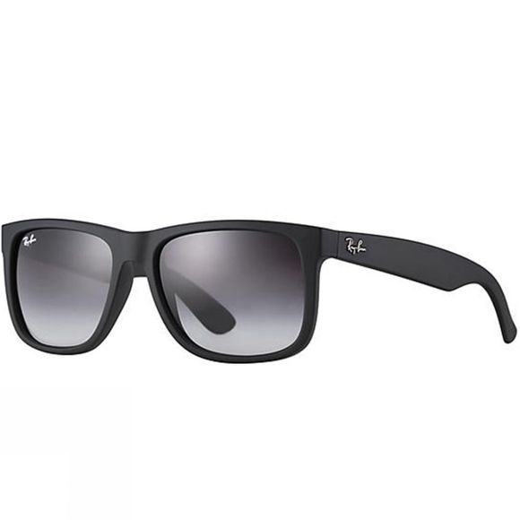 Ray Ban Justin Sunglasses Black Rubber/ Polar Grey Gradient