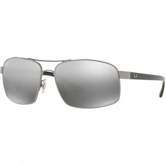 Ray Ban RB3604 Sunglasses Gunmetal/ Grey Mirror Grey Gradient Polar
